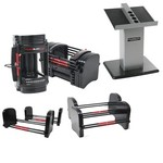 Series 90 lb. EXP Adjustable Dumbbell Weight Set w/ Stand (2.5 - 90 lbs. Per Hand, 28 Pairs) (Home Gym Use) by PowerBlock