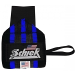 Schiek Workout Wrist Wraps 12 In. Heavy Duty Rubber Reinforced (Blue)