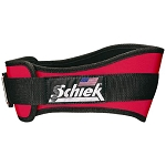 Schiek Gym Weight Lifting Belt - Nylon, 4 3/4 in. Back Width - Red Large