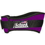 Schiek Gym Weight Lifting Belt - Nylon, 4 3/4 in. Back Width - Purple Large