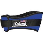 Schiek Gym Weight Lifting Belt - Nylon, 4 3/4 in. Back Width - Royal XSmall