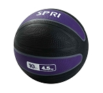 Xerball 10 lb. Rubber Medicine Ball Weight (Professional Gym Quality) by SPRI