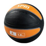 Xerball 4 lb. Rubber Medicine Ball Weight (Professional Gym Quality) by SPRI