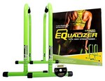 Green Equalizer Bars for Bodyweight Strength Training - Dips, Pull Ups, Push Ups (Professional Gym Quality) by Lebert