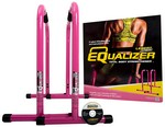 Pink Equalizer Bars for Bodyweight Strength Training - Dips, Pull Ups, Push Ups (Professional Gym Quality) by Lebert