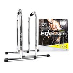 Chrome XL Equalizer Bars for Bodyweight Strength Training - Dips, Pull Ups, Push Ups (Professional Gym Quality) by Lebert