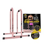 Rose Gold Equalizer Bars for Bodyweight Strength Training - Dips, Pull Ups, Push Ups (Professional Gym Quality) by Lebert