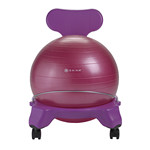 Kids Balance Ball Chair - Purple/Pink by Gaiam