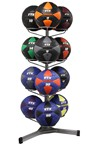 Soft Medicine Wall Ball Club Set 8 - 50 lbs. w/ Rack (Professional Gym Quality) by VTX
