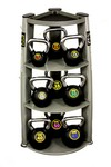 Kettlebell Club Set w/ 9 Kettlebells, X-Bands, and Rack (Professional Gym Quality) by VTX