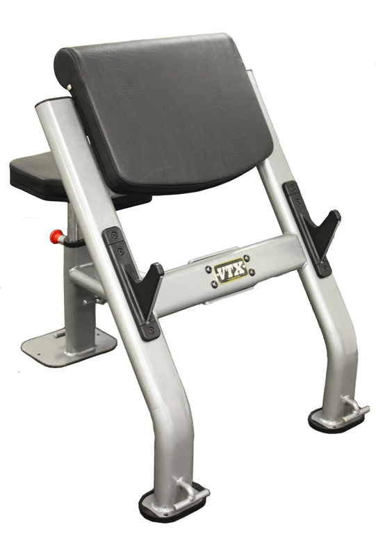 Curl Bench w/ 7 positions and 3 Resistant Band Hooks (Professional Gym Quality) by VTX