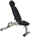 Flat/Incline/Decline Bench w/ Resistance Band Hooks (Professional Gym Quality) by VTX