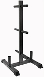 Olympic Plate Rack And Bar Holder (Commercial Gym Quality) by VTX