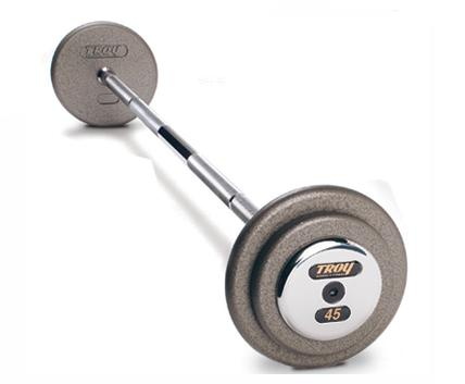 20-110 Lbs. Barbell Set - Gray Pro-Style w/ Chrome End Caps (Commercial Gym Quality) by Troy Barbell