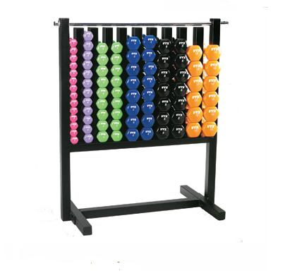 Vinyl Small Dumbbell Weight Set, Group Class Pack, Colored 43 Pairs (Commercial Gym Quality) by VTX