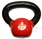 5 Lbs. Vinyl Dipped Kettle Bell Weight - Red (Professional Gym Quality) by VTX