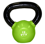 12 Lbs. Vinyl Dipped Kettle Bell Weight- Green (Professional Gym Quality) by VTX