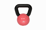 18 Lbs. Vinyl Dipped Kettle Bell Weight- Red (Professional Gym Quality) by VTX