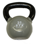 25 Lbs. Vinyl Dipped Kettle Bell Weight- Gray (Professional Gym Quality) by VTX