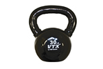 30 Lbs. Vinyl Dipped Kettle Bell Weight- Black (Professional Gym Quality) by VTX