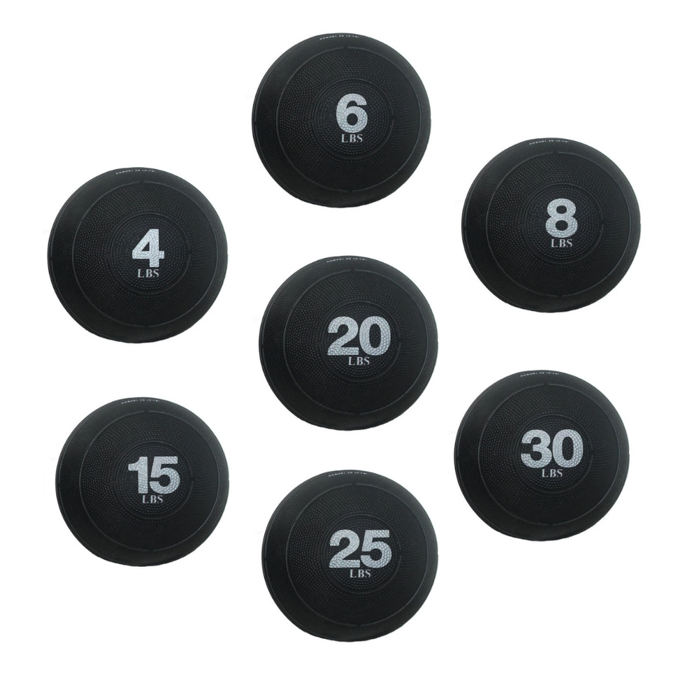 Exercise Slam Ball Sand Filled - CrossFit Club Set 4 - 25 lbs. (Professional Gym Quality) by AeroMat