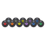 Rubber Medicine Ball Weight Set 2, 4, 6, 8, 10, 12, 15, 18, 20, 25, 30 lbs. (Professional Gym Quality) by AeroMat