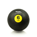 6 lb. Rubber Medicine Ball Weight - Yellow (Professional Gym Quality) by AeroMat