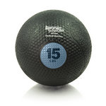 15 lb. Rubber Medicine Ball Weight - Sky (Professional Gym Quality) by AeroMat