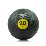 20 lb. Rubber Medicine Ball Weight - Yellow (Professional Gym Quality) by AeroMat
