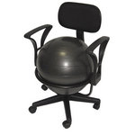 Deluxe Exercise Ball Office Desk Chair for Balance & Posture by AeroMat