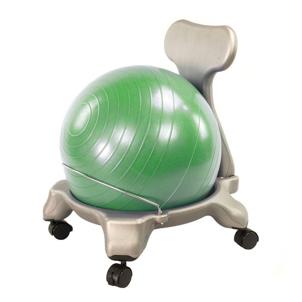 Kids Exercise Ball Desk Chair for Balance & Posture w/ Green Ball by AeroMat