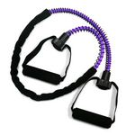 Heavy Resistance Ex-Cord Fitness Tube, Foam Grip -Purple (Professional Gym Quality) by AeroMat
