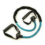 Medium Resistance Ex-Cord Fitness Tube, Hard Grip -Light Blue (Professional Gym Quality) by AeroMat