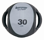 Medicine Ball with Handles - 30 lb. Gray (35140) (Professional Gym Quality) by AeroMat
