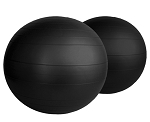 55 cm Black Fitness Ball - Single (Home Gym Use) by AeroMat