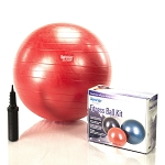 55 cm Burst Resistant Ab Exercise Ball Kit - Red (Home Gym Use) by AeroMat