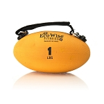 Slim Olive Weight Ball - 1 lb. (Tangerine) (Professional Gym Quality) by AeroMat
