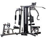 BodyCraft Galena Pro w/ Leg Press - Universal Weight Machine Multi Station Gym - Single 200 lb. Weight Stack (Heavy Duty Construction)