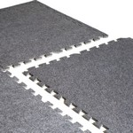 Heavy Duty Foam Tile Gym Flooring w/ Carpet Top - 6 Piece (Professional Gym Quality) by CAP Barbell