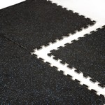 Heavy Duty Foam Tile Gym Flooring w/ Recycled Rubber Top Texture - 6 Piece (Professional Gym Quality) by CAP Barbell