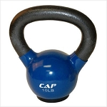 10 lb. Workout KettleBell, Enamel Coated Cast Iron  (Professional Gym Quality) by CAP Barbell