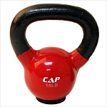 15 lb. Workout KettleBell, Enamel Coated Cast Iron  (Professional Gym Quality) by CAP Barbell