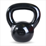 20 lb. Workout KettleBell, Enamel Coated Cast Iron  (Professional Gym Quality) by CAP Barbell