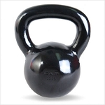 30 lb. Workout KettleBell, Enamel Coated Cast Iron  (Professional Gym Quality) by CAP Barbell