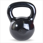 40 lb. Workout KettleBell, Enamel Coated Cast Iron  (Professional Gym Quality) by CAP Barbell