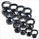 50 lb. Workout KettleBell, Enamel Coated Cast Iron  (Professional Gym Quality) by CAP Barbell