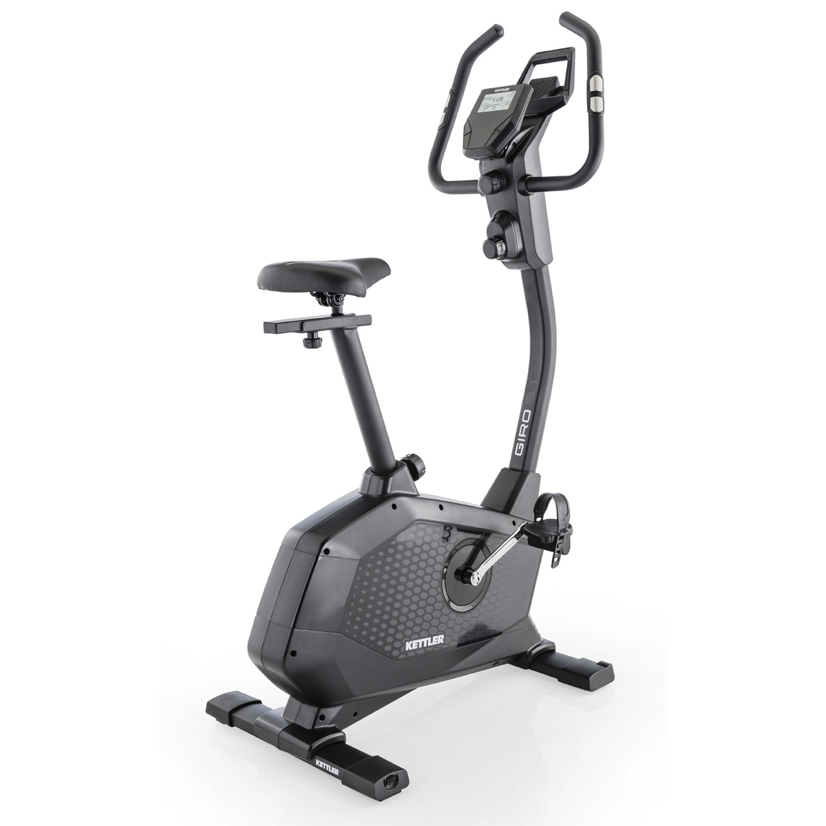 Giro S1 Black Upright Exercise Bike w/ Heart Rate Sensor (Home Gym Use) by Kettler