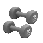 15 lb. Dumbbell Neoprene Hand Weight (Pair) by Gaiam