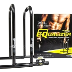 Black XL Equalizer Bars for Bodyweight Strength Training - Dips, Pull Ups, Push Ups (Professional Gym Quality) by Lebert