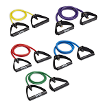 Original Xertube Trainer Set  w/ Plastic Handle - Rubber Resistance Bands (Professional Gym Quality)